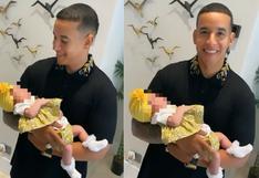Daddy Yankee enterneció a sus fans con video cargando a Vida Isabelle, hija de Natti Natasha