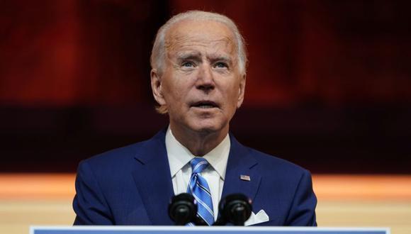 El presidente electo de Estados Unidos, Joe Biden, pronuncia un discurso previo al Día de Acción de Gracias en su sede de transición en Wilmington, Delaware, Estados Unidos. (Foto: REUTERS / Joshua Roberts).