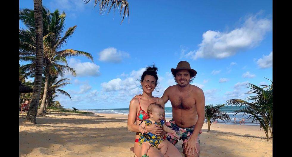 La familia de Benjamín Rojas en sus primeras vacaciones. (Foto: @rojas_benja/Instagram)