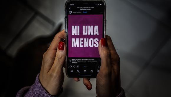 """Fotografía del colectivo argentino """"Ni Una Menos"""" en redes sociales. (Foto: EFE)"""