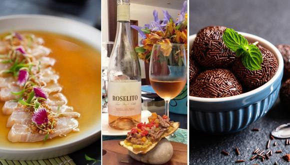 El menú para la comida de celebración incluye pastas, comida nikkei, postres y un buen maridaje con vino.