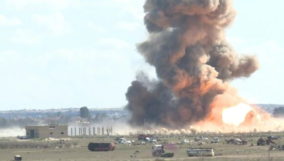 Nueve yihadistas murieron y otros ocho están heridos, manifestó ONG.  (Captura de pantalla)