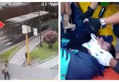 Lince: sereno que fue atropellado por bus del Corredor Azul continúa grave | VIDEO