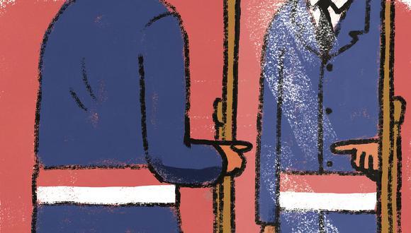 """""""Bellido ha creado una suerte de personaje que, al mismo tiempo, es él y no lo es. Parece un trabalenguas, pero lejos estoy de pretender transformar el pronombre en verbo o adjetivo"""".(Ilustración: Víctor Aguilar)"""