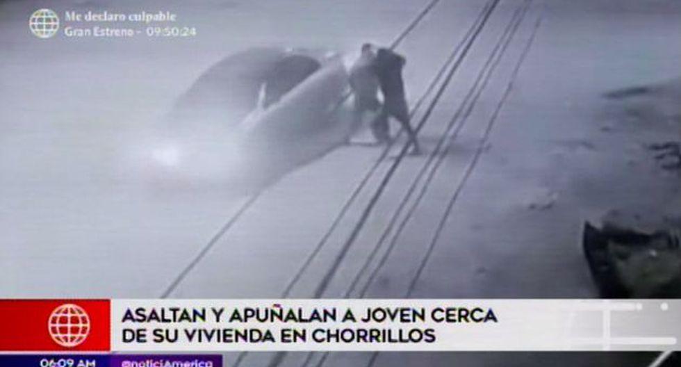 Hieren con cuchillo a joven. (Foto: Captura de video / América Noticias)