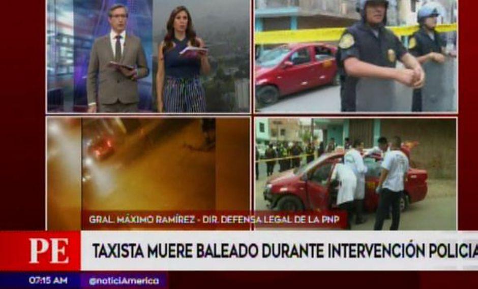 Defensa Legal de la PNP se pronunció respecto a la muerte de taxista en SJL (Captura: América Noticias)