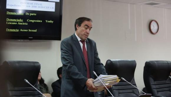 Tras la decisión de la Comisión de Ética, el caso de Yonhy Lescano será resuelto por el pleno del Congreso. (Foto: Anthony Niño de Guzmán / El Comercio)