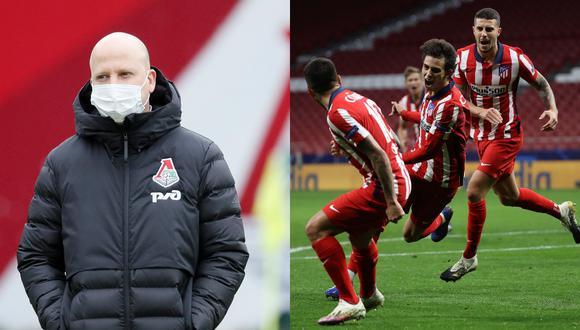 Marko Nikolic, técnico del Lokomotiv, destacó la calidad del Atlético de Madrid (Fotos: AFP   EFE)
