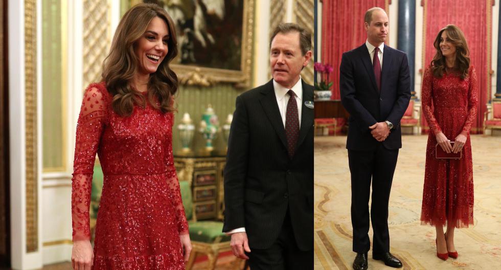 Kate Middleton se decantó en un espectacular vestido rojo de lentejuelas para ser anfitriona de una gala en el Palacio de Buckingham, en el marco de la Cumbre de Inversión entre el Reino Unido y África. (Fotos: AFP)