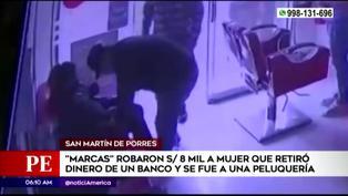 SMP: roban S/.8 mil a mujer en peluquería tras retirar dinero de un banco