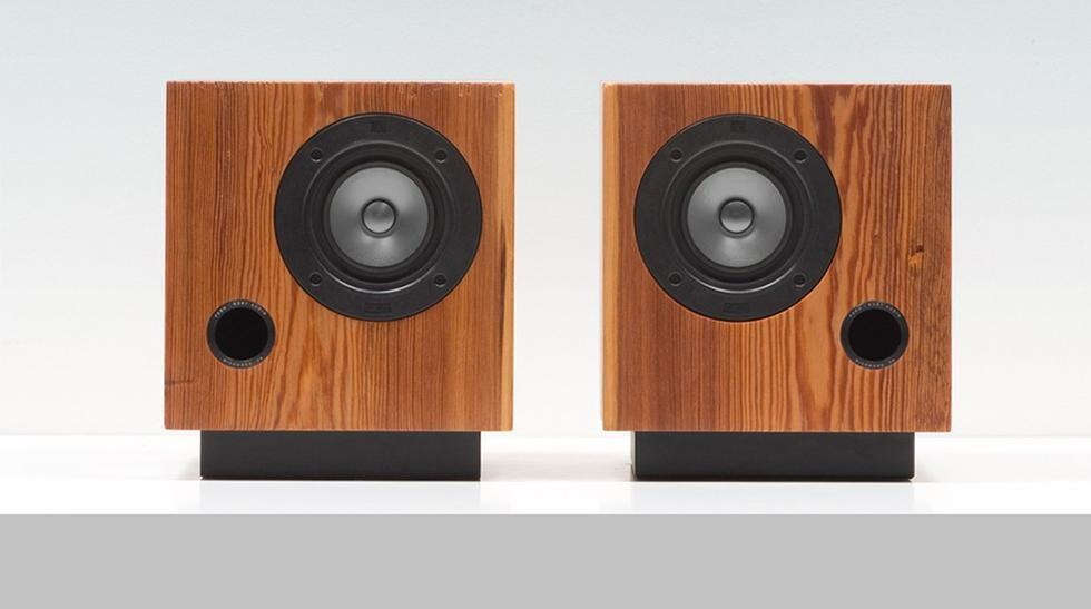 Sonido natural: Estos parlantes son hechos con madera reciclada - 1