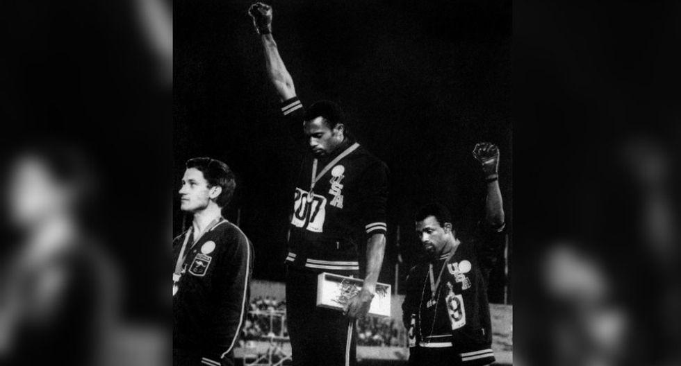El puño de Smith se convirtió en un ícono para los ciudadanos afroamericanos de Estados Unidos. (Foto: AFP)