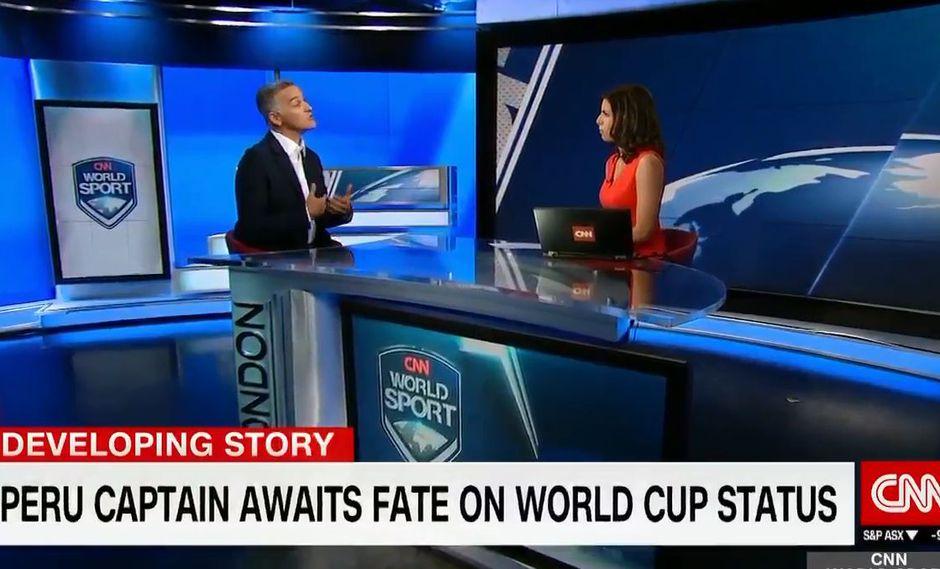 """Paolo Guerrero: vocero de FIFPro dice a """"CNN"""" que todavía hay esperanza. (Foto: Captura CNN)"""
