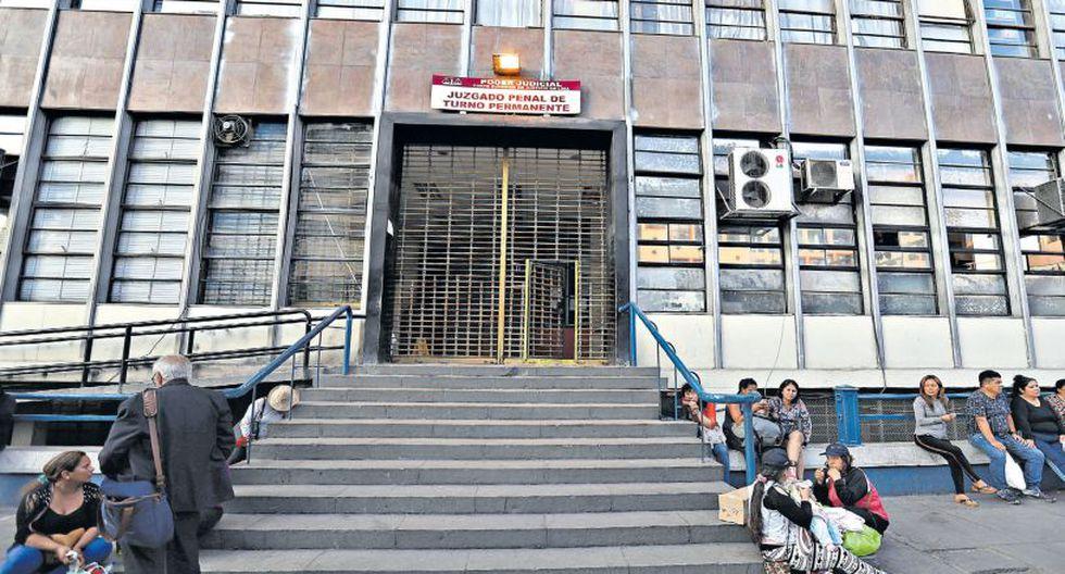 La nueva carceleta, ubicada en el edificio del Poder Judicial y el Ministerio Público, en la quinta cuadra de la Av. Abancay, tiene capacidad para albergar a 178 detenidos a la vez. (Rolly Reyna / El Comercio)