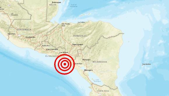 El Salvador, Honduras y Nicaragua en alerta por potente sismo de magnitud 5.9 registrado este jueves. (Captura)