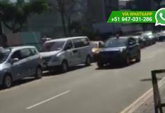 Vehículo oficial utiliza circulina para evitar tráfico (VIDEO)