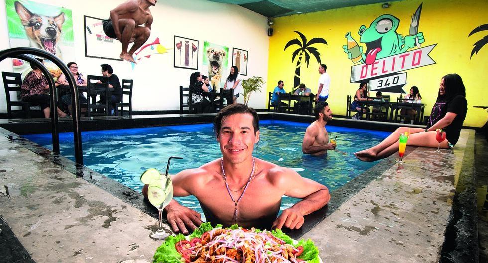 PISCINAZO. Lito Acuña es la nueva cara de la gastronomía de Barranca. Trabajó en los mejores restaurantes de Lima y luego convenció a sus padres de convertir la piscina de la casa en un restobar.