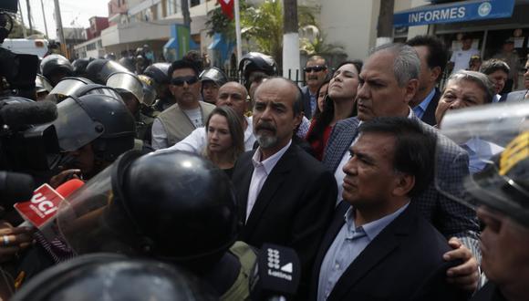 Tras la confirmación del fallecimiento del ex mandatario, diversas personalidades del Partido Aprista manifestaron su pesar por la pérdida de su líder. (Foto: César Campos / GEC)