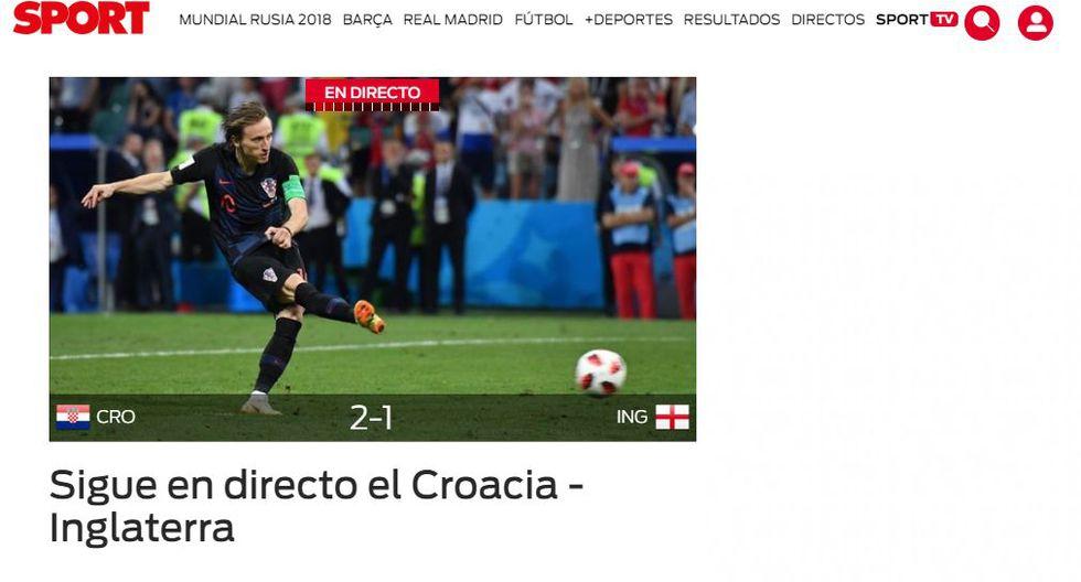 Portada de Sport de España.