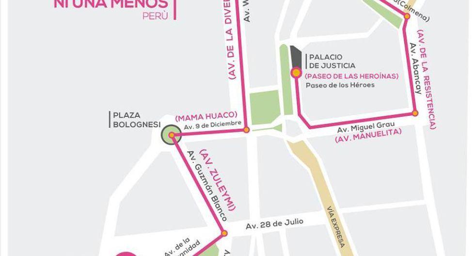 Ni Una Menos: ruta de la marcha contra la violencia a la mujer - 2