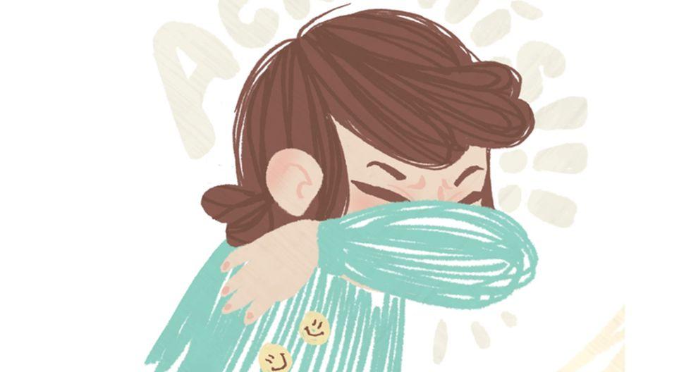 Al estornudar los niños deben taparse la boca con el antebrazo. (ilustración Sara Ramírez).