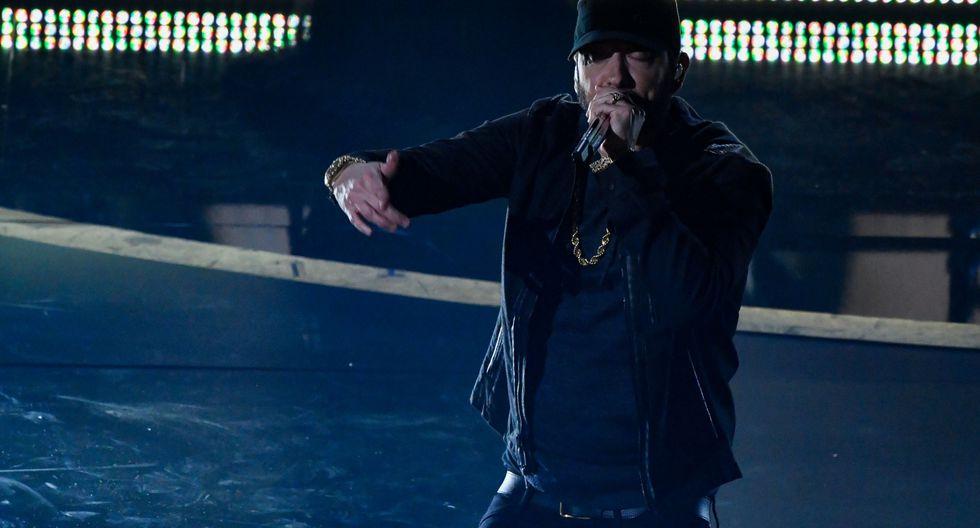 Eminem cantó en la gala de los Oscars 2020. (Foto: AFP)