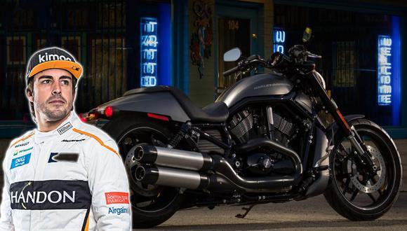 La Harley-Davidson Night Rod de Fernando Alonso tiene un precio superior a los 20 mil euros. (Foto: Ruedas&Tuercas).