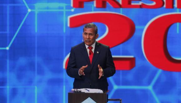Ollanta Humala criticó a Hernando de Soto en el debate presidencial del JNE. (Foto: Mario Zapata Nieto / @photo.gec )