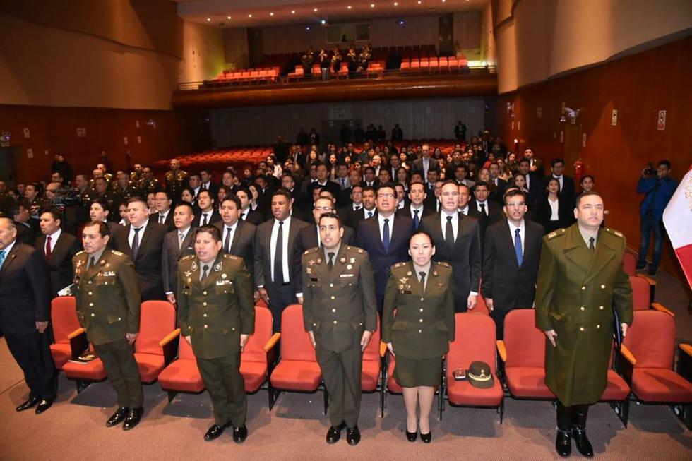 Unos 65 profesionales de distintos sectores de la sociedad se enlistaron como aspirantes a oficiales de reserva, tras superar un riguroso proceso de selección. (Foto: Ejército del Perú)