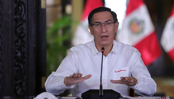 En camino. Martín Vizcarra anunció que el nuevo bono se aprobará hoy en el Consejo de Ministros. (PRESIDENCIA)