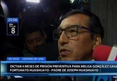 """Padre de Joseph Huashuayo tras prisión preventiva para Melisa González: """"Continuaremos luchando"""""""