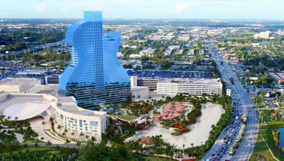 Es una incorporación única al paisaje turístico del sur de Florida y ningún hotel en el mundo se le parece. (Foto:  Seminole Hard Rock Hotel & Casino - Hollywood, FL)