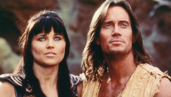 """Lucy Lawless y Kevin Sorbo fueron colegas en los programas """"Hércules: Los viajes legendarios"""" y """"Xena: La princesa guerrera"""" (Foto: NBCUniversal Syndication Studios)"""