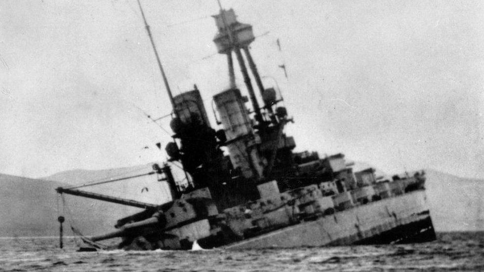 Así estaba el crucero de batalla Derflinger, cuatro minutos antes de desaparecer en el mar.