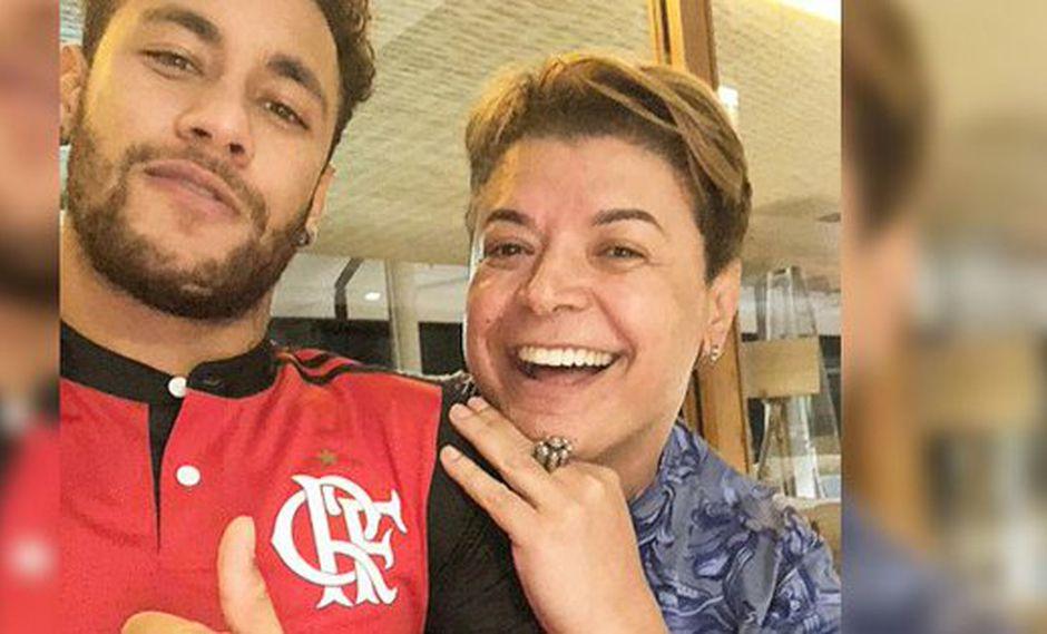 """Un amigo cercano de Neymar publicó en su cuenta de Instagram una foto del crack brasileño con la camiseta del Flamengo. """"Es la nueva contratación"""", afirmó en la red social. (Foto: captura de pantalla)"""
