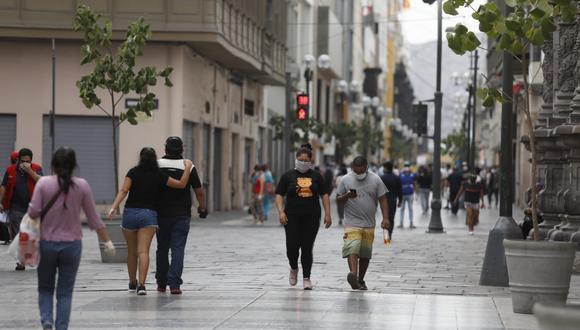 Jirón de la Unión es una de las zonas más transitadas de Lima durante la pandemia. (Fotos Diana Marcelo / GEC)