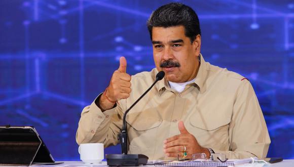Nicolás Maduro durante una alocución, este miércoles, en Caracas (Venezuela). (Foto: EFE / PRENSA MIRAFLORES).