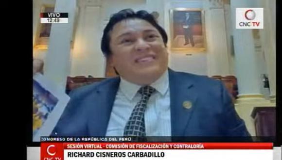 Richard Cisneros se presentó el último viernes ante la Comisión de Fiscalización del Congreso. (Foto: Canal del Congreso)
