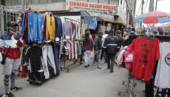 El aforo en Gamarra desde el 1 de marzo es del 20% de su capacidad máxima. (Foto: César Campos | GEC)