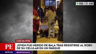 Los Olivos: joven fue herido de bala tras resistirse al robo de su celular