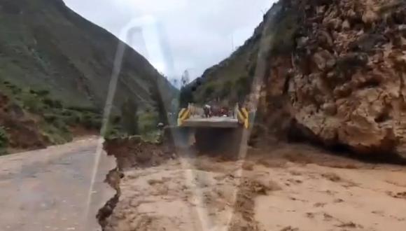 El puente Cajas quedó destruido. (Foto: Captura/Canal N)