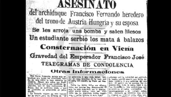 Así ocurrió: En 1914 asesinan al archiduque de Austria