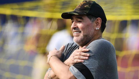 El nuevo logo de la Copa Diego Armando Maradona. (Foto: AFP)
