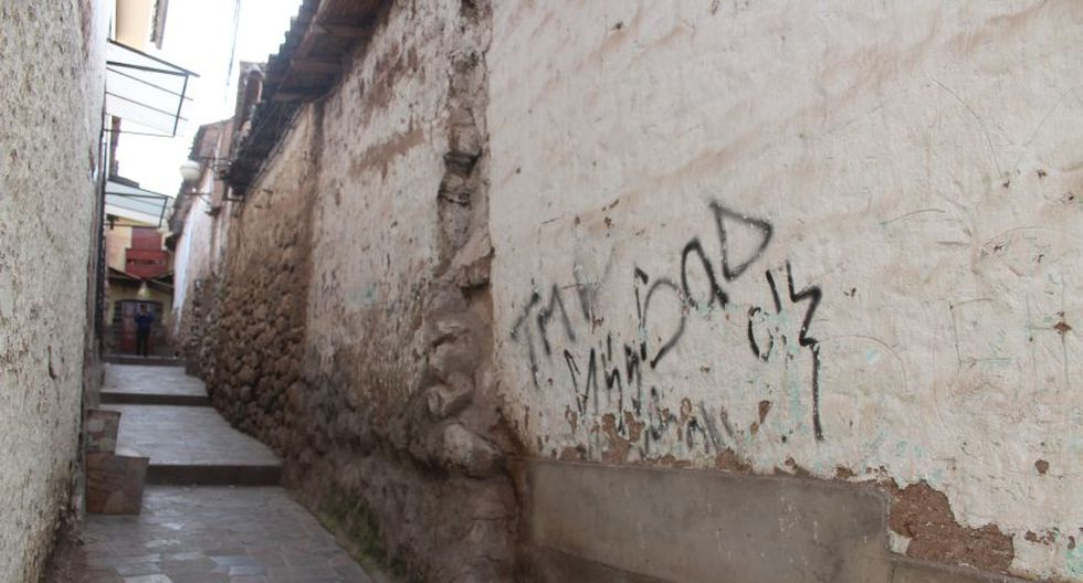 Otra pinta en una calle del barrio de San Blas. (Foto: Miguel Neyra / El Comercio)