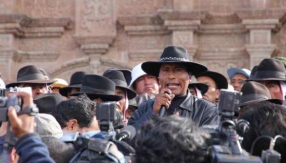 En el 2011, el año de las protestas del denominado 'aimarazo', Walter Aduviri era presidente del frente de Defensa de los Recursos Naturales de la Zona Sur de Puno (Foto: archivo)