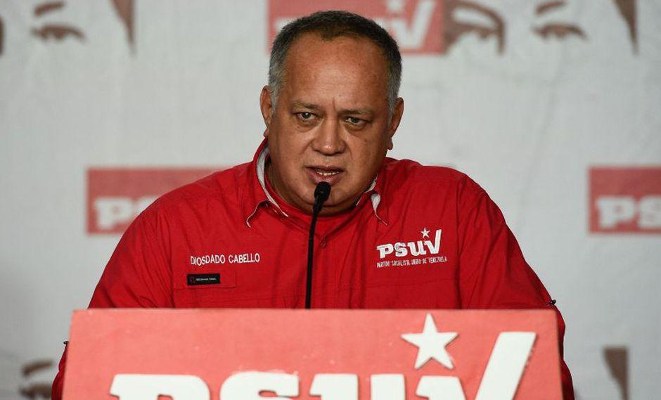"""Diosdado Cabello: """"Les daremos la respuesta más terrible que ellos puedan imaginarse"""". (AFP)"""