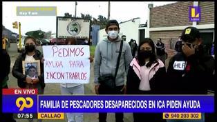Familia de diez pescadores desaparecidos en Ica piden ayuda