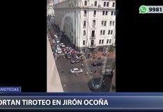 Cercado de Lima: cambista resulta herido de bala tras intento de asalto en jirón Ocoña