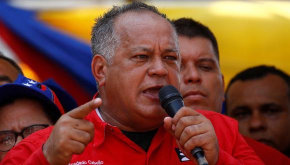 Diosdado Cabello convocó a los chavistas a manifestarse el próximo sábado. Foto: Archivo de Reuters