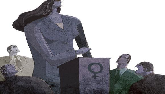"""""""Como buen machista, ni siquiera había considerado la posibilidad de que dos candidatas, que no coinciden nunca en nada, lo golpearan usando el mismo gancho"""". (Ilustración: Víctor Aguilar Rúa)"""